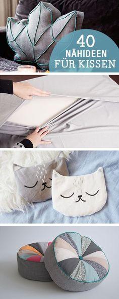 DIY-Anleitungen: 40 Nähideen für Kissen, DIY-Inspiration / diy sewing tutorials for cushion, crafting home decor via http://DaWanda.com