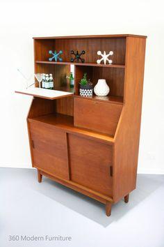 Mid Century Sideboard Cocktail Bar Cabinet Desk All-In-One Vintage Retro Scandi in Home & Garden, Furniture, Sideboards, Buffets & Trolleys   eBay 360 Modern Furniture $1325