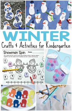 The temperatures are dropping, which means now is the best time to start gathering ideas for kids winter crafts and activities! Here are winter activities for kids. Thema Winter Im Kindergarten, Kindergarten Freebies, Kindergarten Activities, Classroom Activities, Kindergarten Classroom, Preschool Winter, Phonics Activities, Preschool Ideas, Teaching Ideas