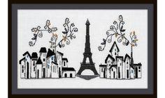 """""""Paris 1889"""" Gráfico para bordar en punto de cruz. Patrón en formato PDF"""