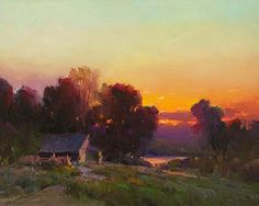 "Berberian, Ovanes - ""Idaho Sunset"" Absolutely superb colorist with terrific brushwork too."