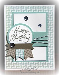 Zoe card 1 ~ Happy Birthday ~ catscrapbooking.com | CTMH August Stamp of the Month