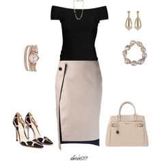 A fashion look featuring Hervé Léger tops, Atto skirts and Gianvito Rossi pumps. Browse and shop related looks.