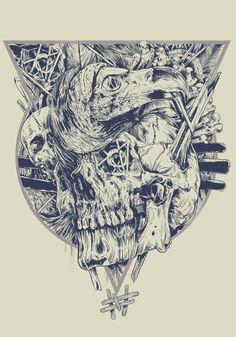 SKULLS by Rafal Wechterowicz, via Behance