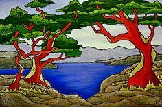 Chrissandra's Art: New Arbutus Tree Paintings Arbutus Tree, Artsy, Tree Paintings, Trees, Creative, Tattoo Art, Crafts, Inspiration, Image