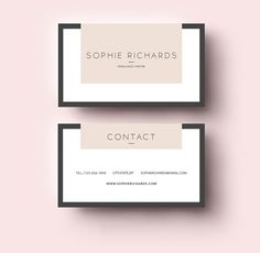 Business card template printable business card design business cv template layout business cards two side business card template by emilys art boutique on creative market reheart Images
