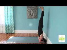 Yoga video: How to Handstand - #FitFluential via @xenstregnthyoga