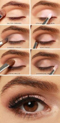 วิธีแต่งตาสีนู้ดน้ำตาล