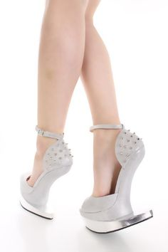 e17597b07b5 Silver Glitter Spike Studded Anti Gravity Wedges. Spring ShoesSummer ShoesAnti  GravityWedge ...