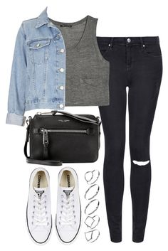 """""""Unbenannt #528"""" by style-setup ❤ liked on Polyvore featuring Topshop, MANGO, Marc Jacobs, Converse and ASOS"""