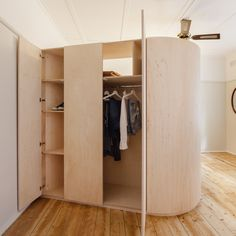 Space-saving storage solutions are built into room partitions and walls for small homes and tiny apartments for week's Pinterest roundup