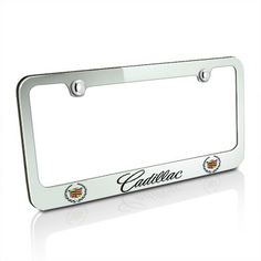 This stylish license frame features engraved OEM style logos and nameplate. Made from high-quality chrome plated cast brass, the best metal for frame. Chromed finish will never rust. License Plate Frames, Chevrolet Corvette, Chrome Plating, Chrome Finish, Cadillac, Brass, Metal, Car, Nameplate
