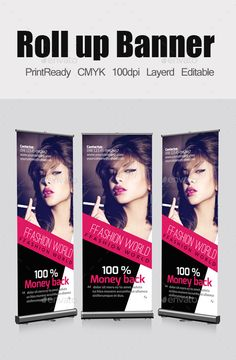 Buy Fashion Roll Up Banners Template by on GraphicRiver. Smart,Clear and Clean Creative business roll up banners template can used for all purpose Corporate , you can edit th. Cool Business Cards, Creative Business, Business Flyers, Business Design, Letterhead Template, Brochure Template, Signage Design, Banner Design, Banner Template