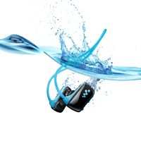 This is the Walkman that I replicated on Devon Dolphin for the Sony Store. A Walkman you can swim with?! Yep, that's right. You can take a dip with the new Sports W Series Waterproof MP3 Player. #CES2013