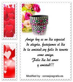 textos del dia del amor y la amistad para compartir por Whatsapp, mensajes del dia del amor y la amistad para compartir por Whatsapp: http://www.consejosgratis.es/dia-de-san-valentin/