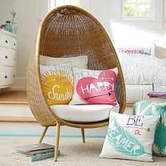 Create a comfy hangout space with Pottery Barn Teen's lounge seating and teen lounge chairs. Shop teen room chairs in many styles, and colors. Teen Lounge, My New Room, My Room, Girl Room, Room Art, Coastal Bedding, Coastal Bedrooms, Bedding Decor, Luxury Bedding