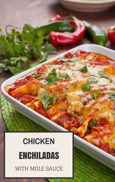 Clinton Kelly made a great Chicken Mole Enchiladas recipe on The Chew ...