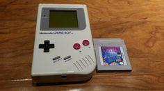 Nintendo Game Boy handheld console with Tetris game, original Nintendo Gameboy… Nintendo Games, Nintendo Consoles, Original Nintendo, Back To The 80's, Game Boy, The Originals, Handmade Gifts, Etsy, Kid Craft Gifts