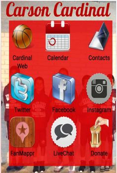 Carson Cardinal Basketball Mobile App now available at the ITUNES App Store!!  Connect with the coaches staff and other fans with calendar features, live chat features and connections to all the Carson Cardinal Social Media. Search Carson Cardinal on you iPhone or other Apple device. #CarsonCardinal #ccba #cityofcarson @carsoncardinalb carsoncardinal.com
