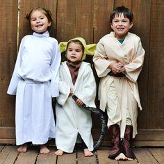 My three #Halloween cuties from three years ago!! #flashback #starwars #happyhalloween