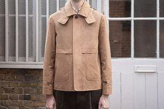 Hood jacket in dark navy Ventile canvas — S.E.H Kelly