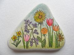 Flower Garden Miniature art on English sea by Alienstoatdesigns