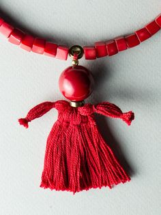 Puppet Necklace by Carla Szabo Puppets, Jewelry Design, Detail, Doll