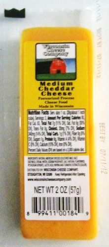 WISCONSIN CHEESE COMPANY - 100% Wisconsin CHEDDAR CHEESE Gift Box - (24) 4 oz Packages - Delicious