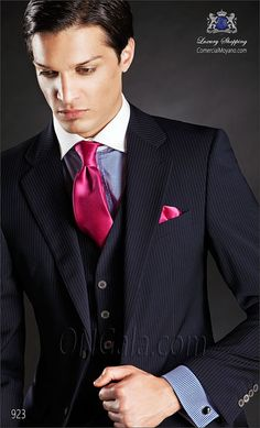 Traje de novio azul 923 ONGala Wedding suit