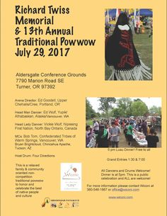 This is the 13th annual Traditional Powwow. There will be a free luau dinner provided at 5pm.  See flyer for details