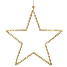 Decoración navideña de estrella dorada de metal H. 18 cm