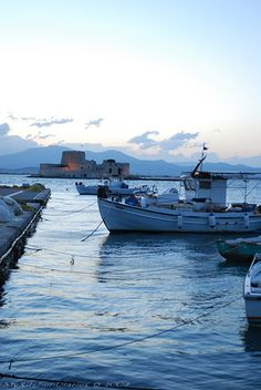Dusk on the promenade of Nafplio | Peloponese