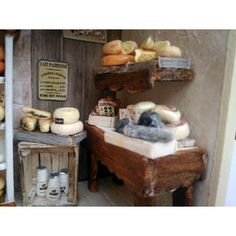 Miniatures, Dairy, Cheese, Food, Decor, Cheese Store, Cheese Plant, Moulin Rouge, Home