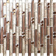 Luxury Hotel gold brown Decorative Mosaic Tile Linear Wall Mosaic/Crystal Mosaic/Glass Mosaic/Stone mosaic Tile