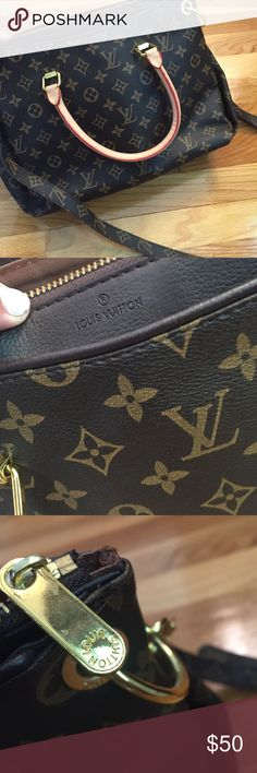 Louis Vuitton purse not authentic, all zippers work, great bag lots of room, has a long strap for cross body Bags Totes