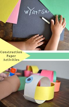 Kids Construction Paper Activities for a Rainy Day