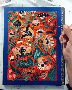 For my morning warm up I spent no more then min adding little by little to this painting. I have a feeling it is finally cooked and doesn't need any more detailing. Painting Inspiration, Art Inspo, Floral Illustrations, Illustration Art, Stoff Design, Scandinavian Folk Art, Art Graphique, Dot Painting, Japanese Art