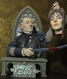 My Vampire Lovers kit entitled The General's Revenge. Sculpted and painted by Stewart Jackson. Classic Horror Movies, Horror Films, Horror Art, Scary Monsters, Famous Monsters, Halloween Horror, Halloween Art, Halloween Stuff, Horror Action Figures