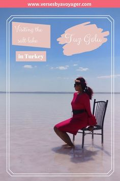 Check out all you need to know about visiting the beautiful pink coloured, salt lake in Turkey; Lake Tuz or Tuz Golu, a hidden gem of Turkey  #saltlakeinturkey #turkeylake #pinklake