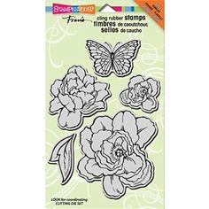 "Stampendous Jumbo Cling Rubber Stamp 7""X5"" Sheet-Lovely Garden"