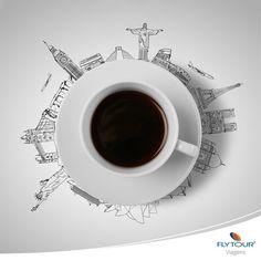 Café ao redor do mundo.