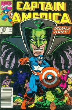 Cover for Captain America (Marvel, 1968 series) [Direct Edition] Captain America Comic Books, Marvel Captain America, Marvel Comic Books, Comic Books Art, Comic Art, Marvel Characters, Book Cover Art, Comic Book Covers, Book Art