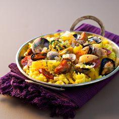 Paella aux coquillages