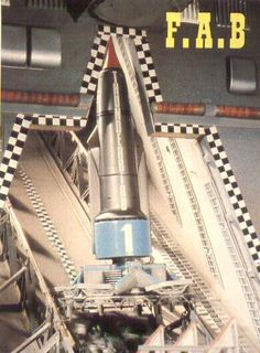 Thunderbird 1 gets into launch position.