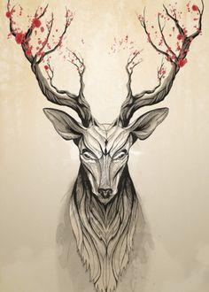 Deer Tree by Rafapasta CG | Displate