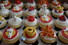 Fire Fighter Dalmation Cupcake
