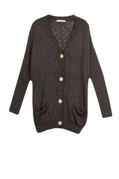 Loose and easy cardigan with a button down front. Deep v-neck. Double pocket detail. - 50% Acrylic 50% Cotton - Hand Wash Cold or Dry Clean - Easy Fit- Boyfriend Length - Available in: Black, Coffee,