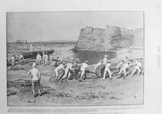 Royal Navy field guns being landed at Candia October 1898 Fleet Landing, Crete Island, Heraklion, Simple Photo, Old Maps, Royal Navy, Antique Prints, Vintage Photos, Greece