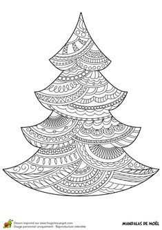 Coloriage mandala noel cadeau sur adult colouring ideas - Mandalas noel ...