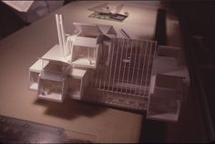 Green Residence by Paul Rudolph, model.